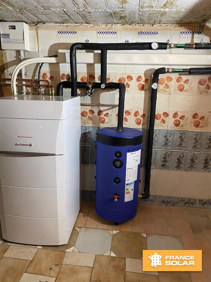 Installation Pompe à chaleur Air/Eau Alezio AWHP 11 MR V 200 (De Dietrich) photo N°3