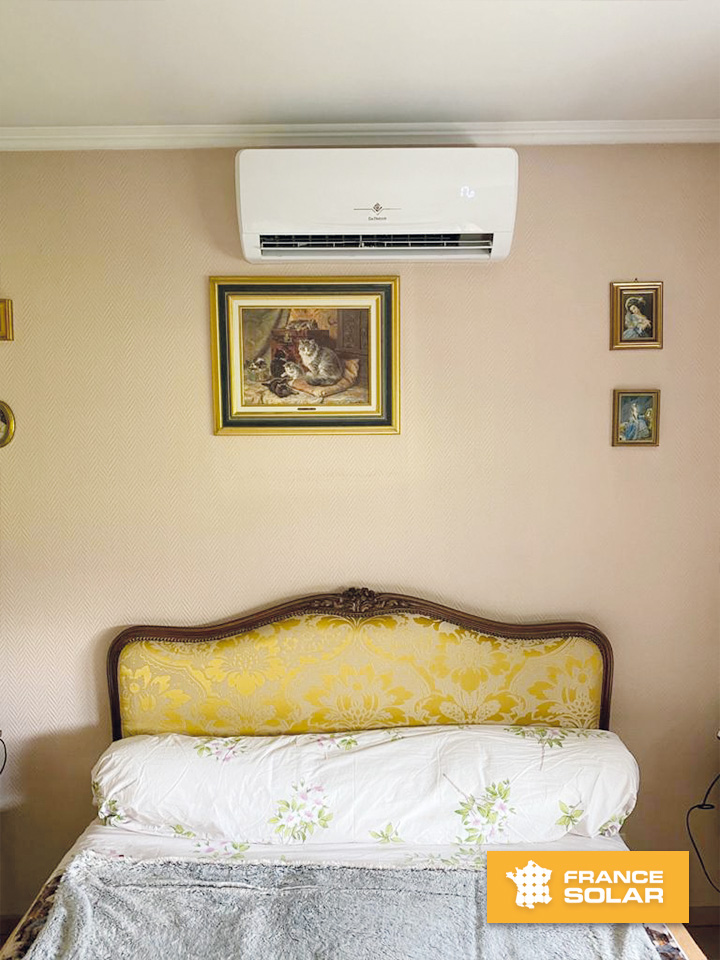 Installation d'un split MUSE 25 dans la chambre à coucher pour notre cliente située à Haguenau 67500