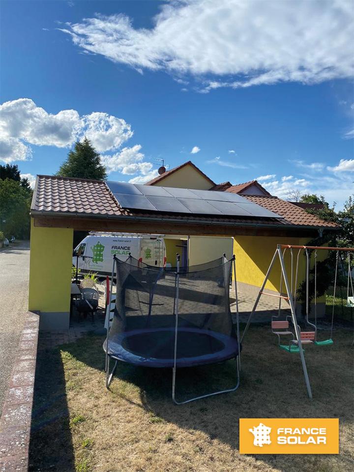 Installation Photovoltaïque de 10 Panneaux Solaires Dualsun