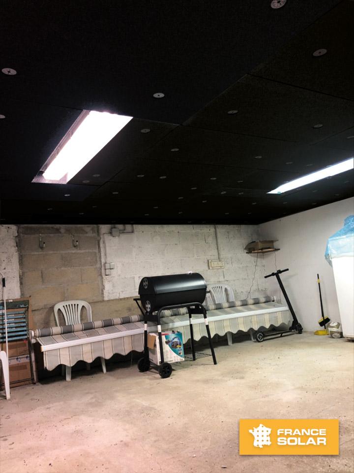 Dans le cadre de l'opération Isolation 1 euro, nous avons isolé le plancher de notre client Bruno à Morey St Denis avec des plaques de Polystyrènes Noirs Anthracites