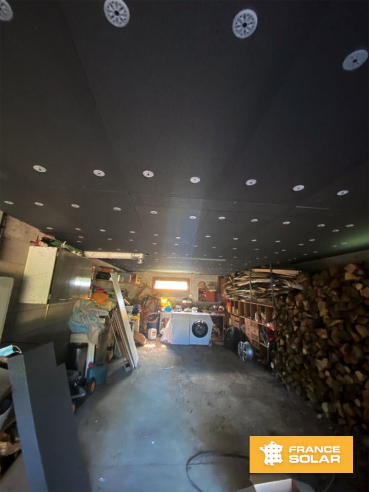 Isolation du sous-sol de notre client Patrice à Pouilley Les Vignes dans le département 25 dans le cadre de l'isolation 1€