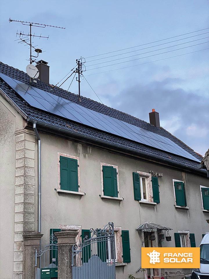 Installation de 30 panneaux solaires pour 9 kWc