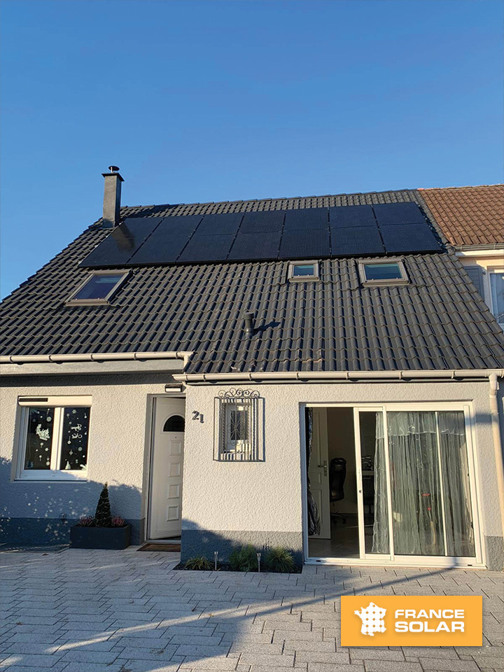 Pose photovoltaïque de 14 panneaux à plobsheim