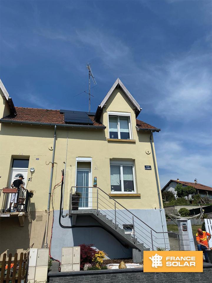 Installation panneaux solaires dans le 57