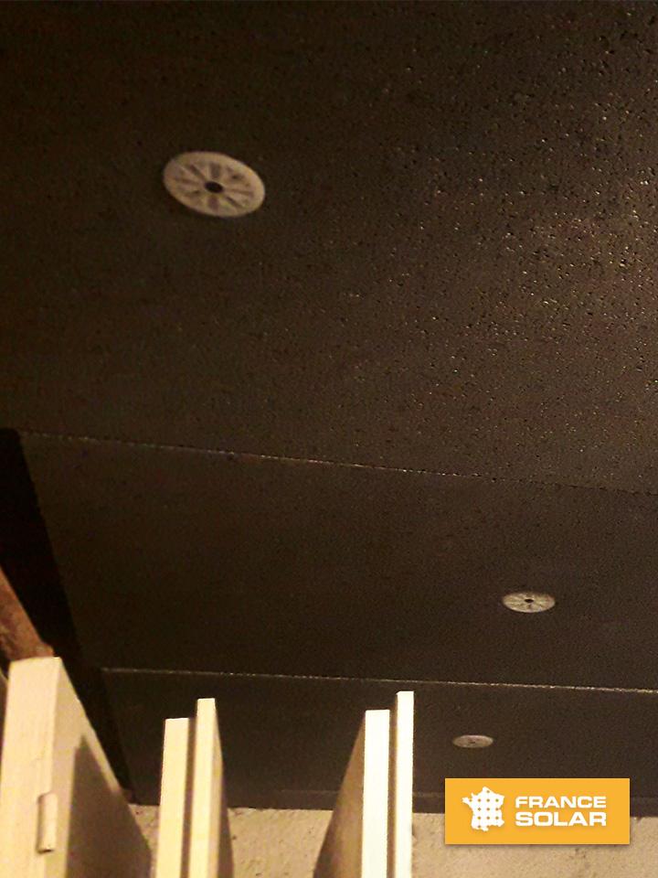 Installation de plaques de polystyrènes noir Stisolmur Ultra de la marque Hirsch Gruppe