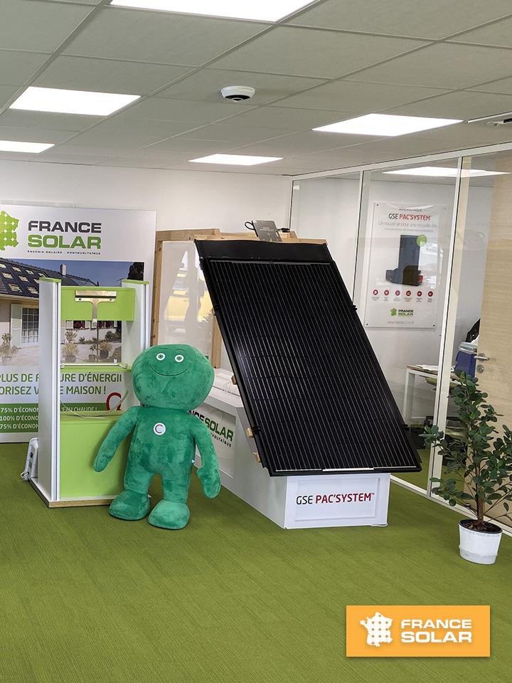 France Solar 2020 : GSE PAC'SYSTEM permet d'économiser jusqu'à 75% d'économie sur sa facture de chauffage (Photo prise le 11 Février 2020)