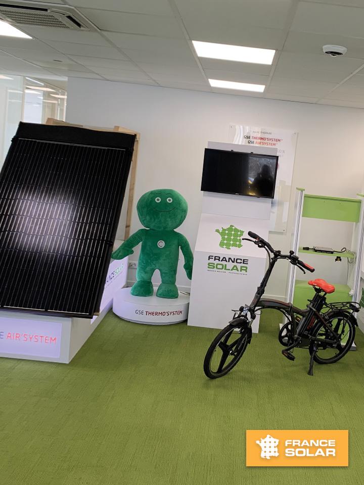 France Solar 2020 : France Solar : Diminuer vos factures énergétiques grâce à nos solutions (Photo prise le 11 Février 2020)
