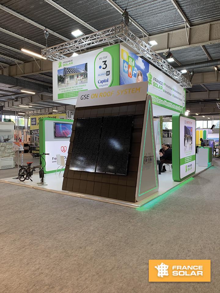 Foire Nancy 2019 : Foire Expo de Nancy 2019 - Panneaux Solaires Photovoltaïques (Photo prise le 05 Mai 2019)