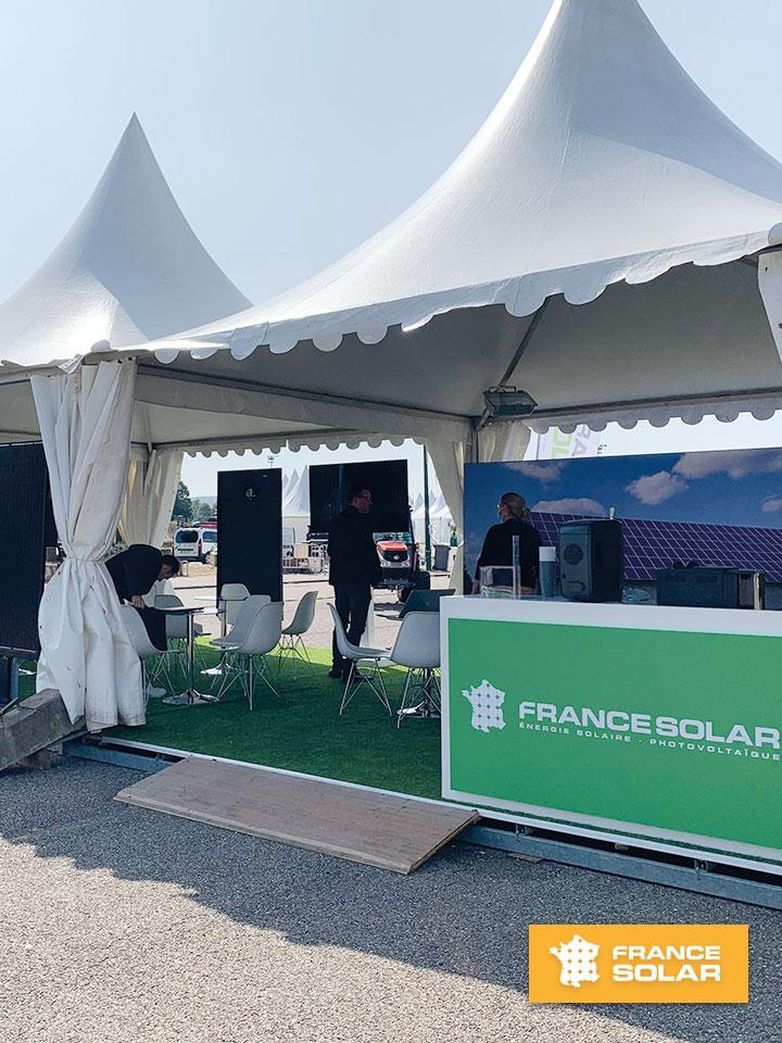 Foire Verdun 2020 : Photo du Stand France Solar à la Foire Nationale de Verdun en Septembre 2020 (Photo prise le 18 Septembre 2020)